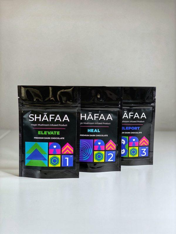 Shafaa Magic Mushroom Dark Chocolate All 3