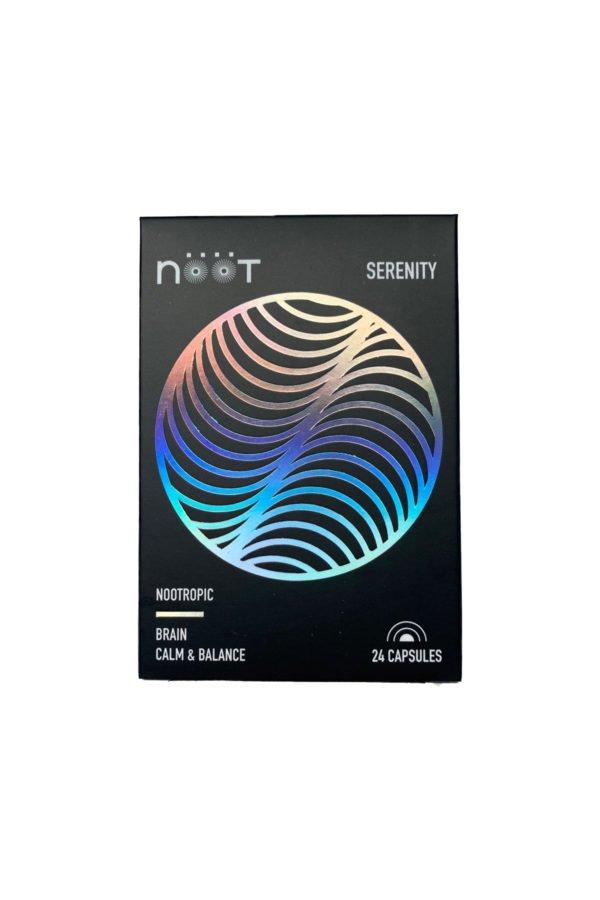 NOOT Serenity Microdose Mushroom Capsules Box Front