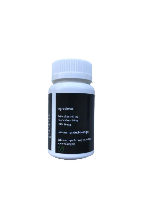 INfinite Rx Unwind Microdosing Psilocybin Capsules Back