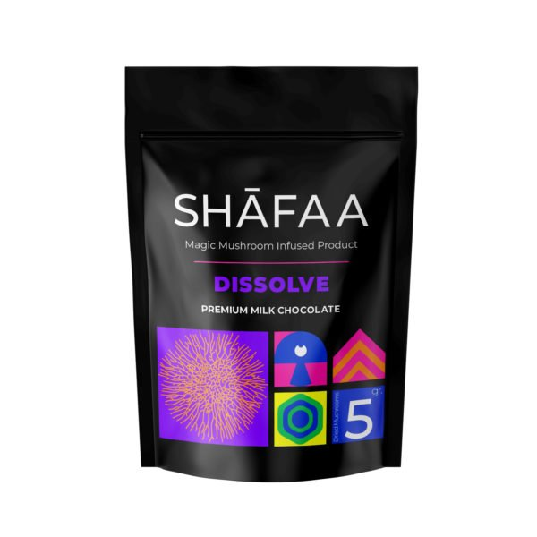 Shafaa Macrodosing Magic Mushroom Milk Chocolate Edibles Dissolve 5g