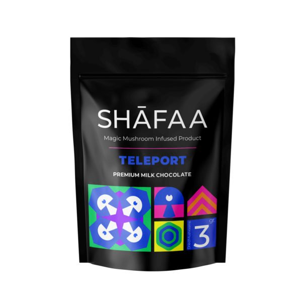 Shafaa Macrodosing Magic Mushroom Milk Chocolate Edibles Teleport 3g