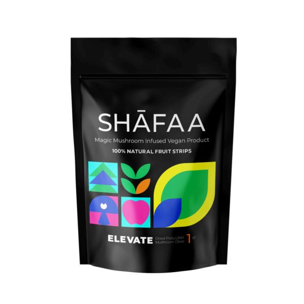 Shafaa Macrodose Magic Mushroom Vegan Fruit Strips Edibles Elevate 1g