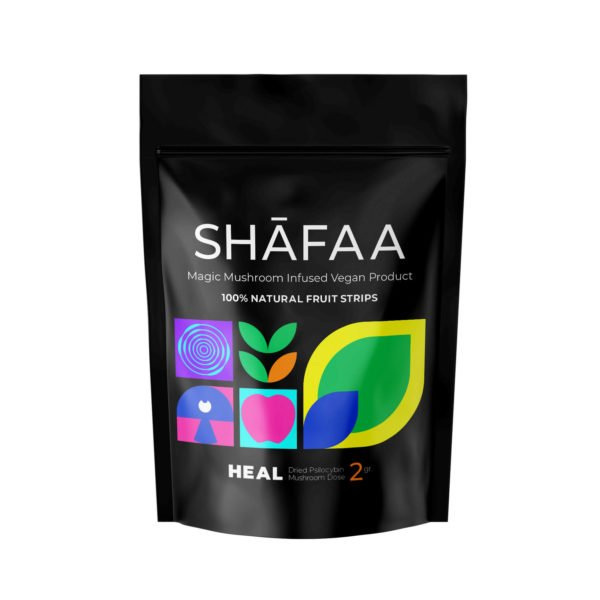 Shafaa Macrodose Magic Mushroom Vegan Fruit Strips Edibles Heal 2g