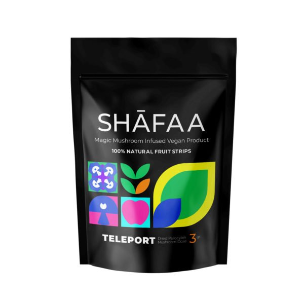 Shafaa Macrodose Magic Mushroom Vegan Fruit Strips Edibles Teleport 3g