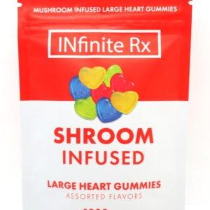INfinite Rx Shroom Infused Large Heart Gummies Edibles