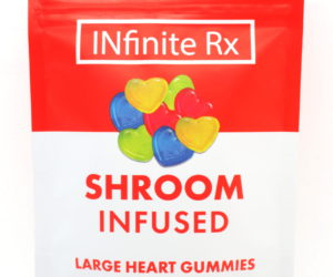 INfinite Rx Shroom Infused Large Heart Gummies Edibles (4000mg)