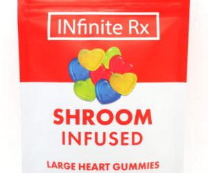 INfinite Rx Shroom Infused Large Heart Gummies Edibles (4000mg)