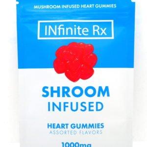 INfinite Rx Shroom Infused Heart Gummies Edibles 1000mg