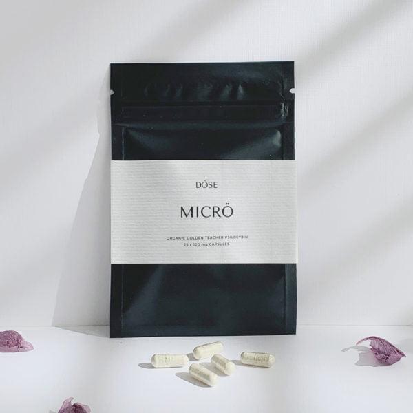Dose MICRO Microdose Psilocybin Capsules Front