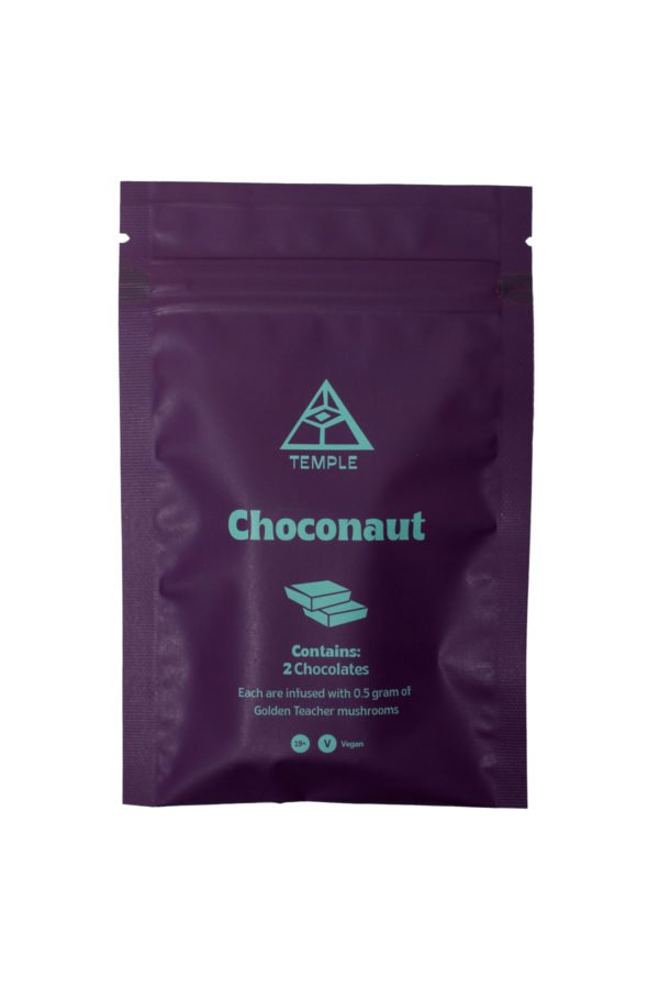Temple Magic Mushroom Chocolate Choconaut Edibles Bag