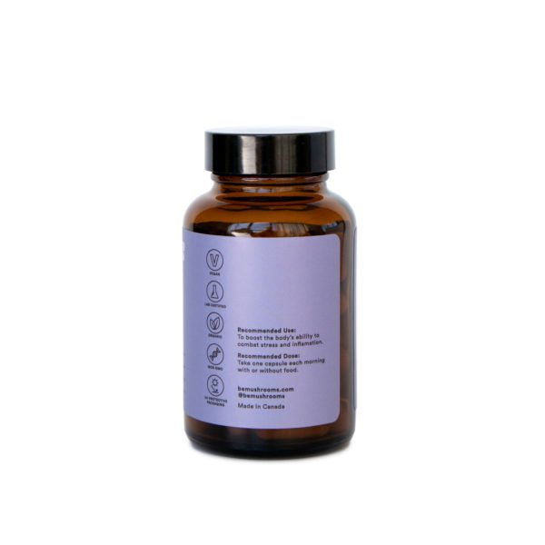 Be Calm Booster Mushroom Supplement Capsules Front