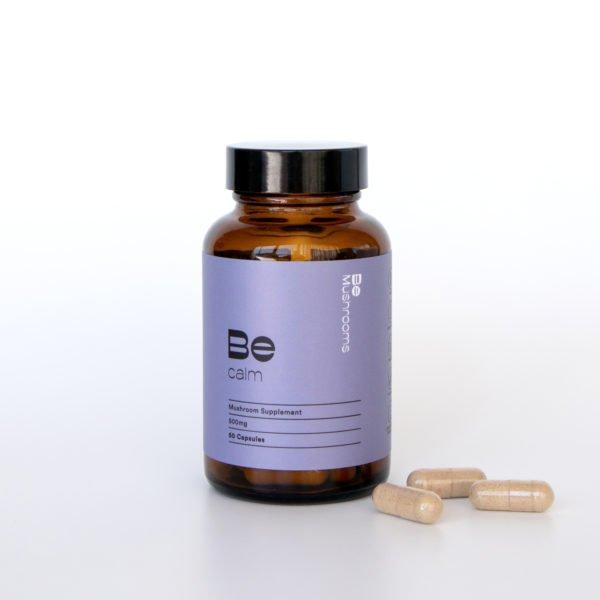 Be Calm Booster Mushroom Supplement Capsules Pills
