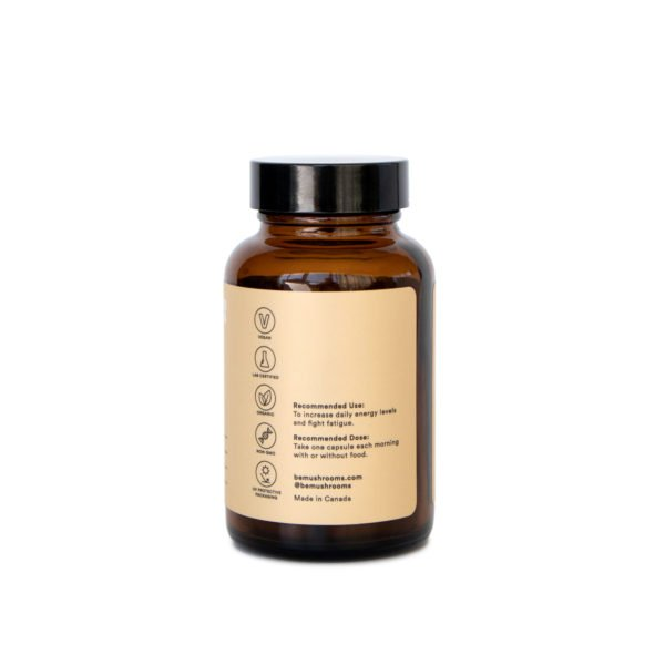 Be Energized Booster Mushroom Supplement Capsules Front