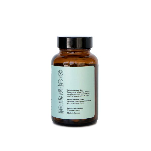 Be Youthful Booster Mushroom Supplement Capsules Side